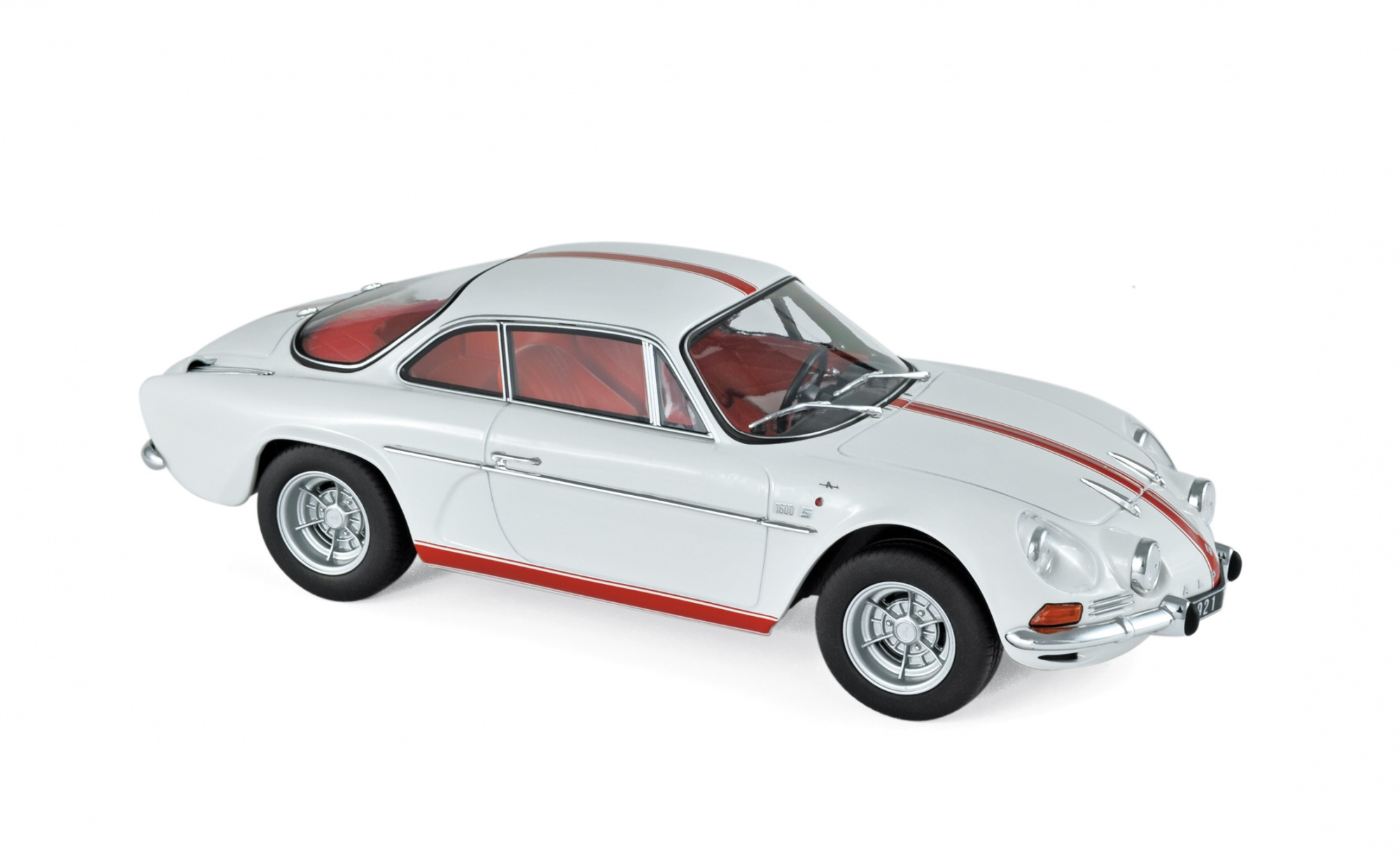 Alpine Renault A110 1600S 1971 White with red stripping