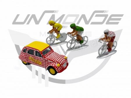 Blister Citroën 2 CV et 3 Cyclistes Tour de France