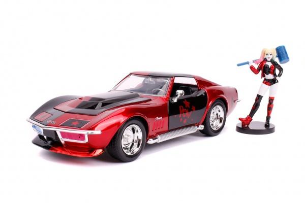 Chevy Corvette Stingray with Harley Quinn Figure
