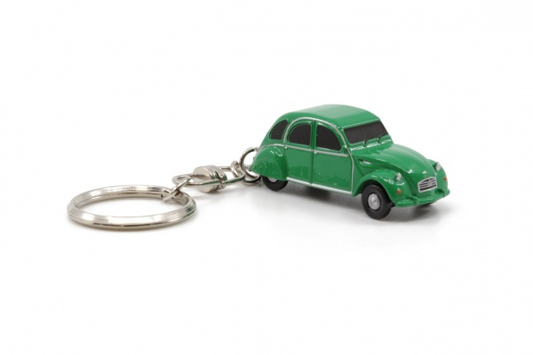 Citroen 2CV6 Green Key Chain