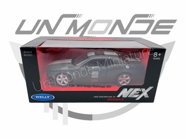 Dodge Challenger SRT Mat Noir Argente Sans Vitrine