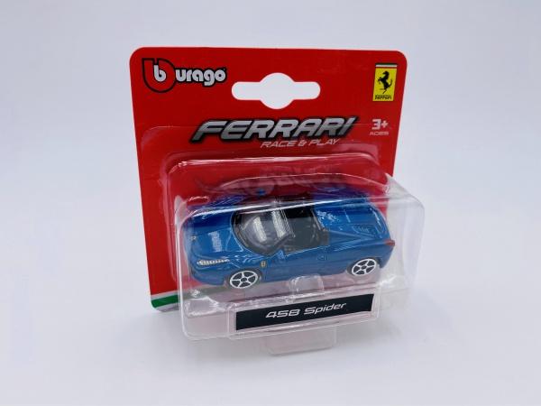 Ferrari 458 Spider Blue
