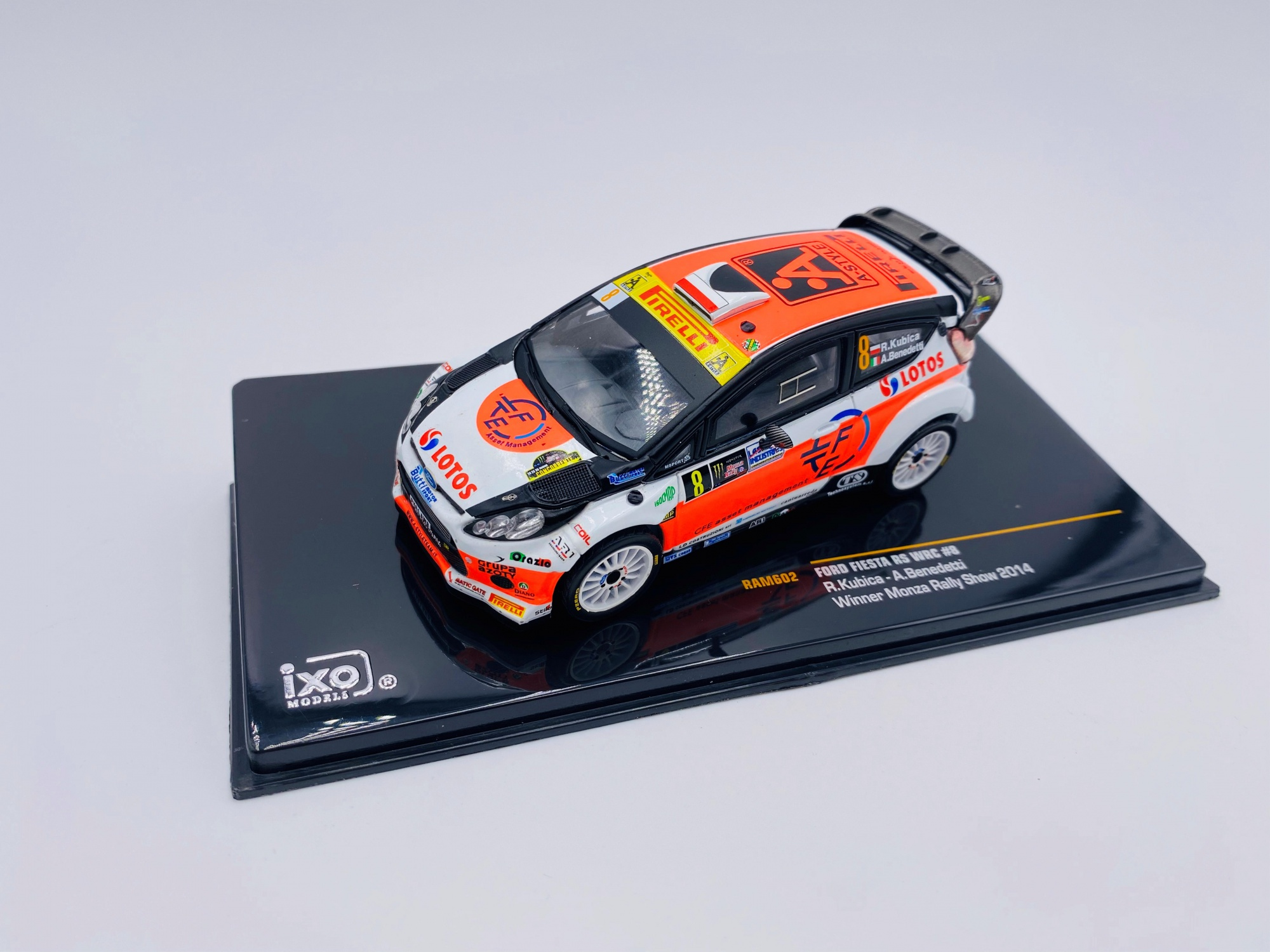 Ford Fiesta RS WRC #8 KUBICA BENEDETTI WINNER MONZA RALLY SHOW 2014