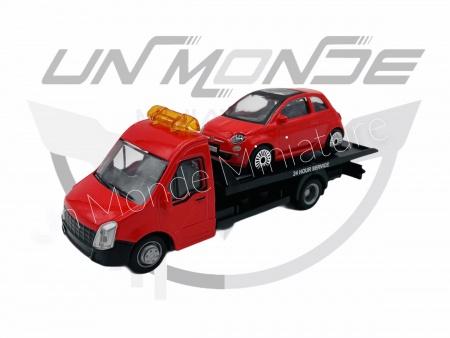 Iveco Dailly Transporteur avec Fiat 500