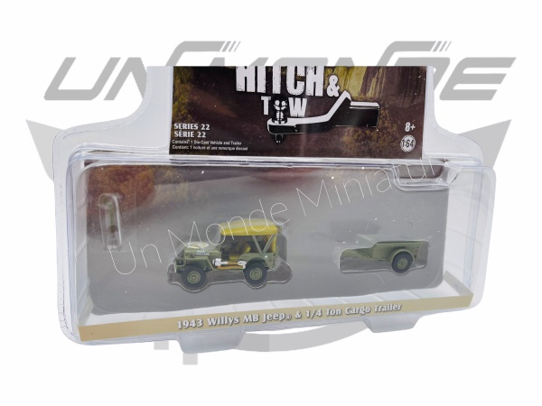 Jeep Willys MB 1943 & 1/4 Ton Cargo Trailler