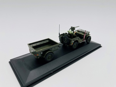 Jeep Willys US Army & Remorque et personnage