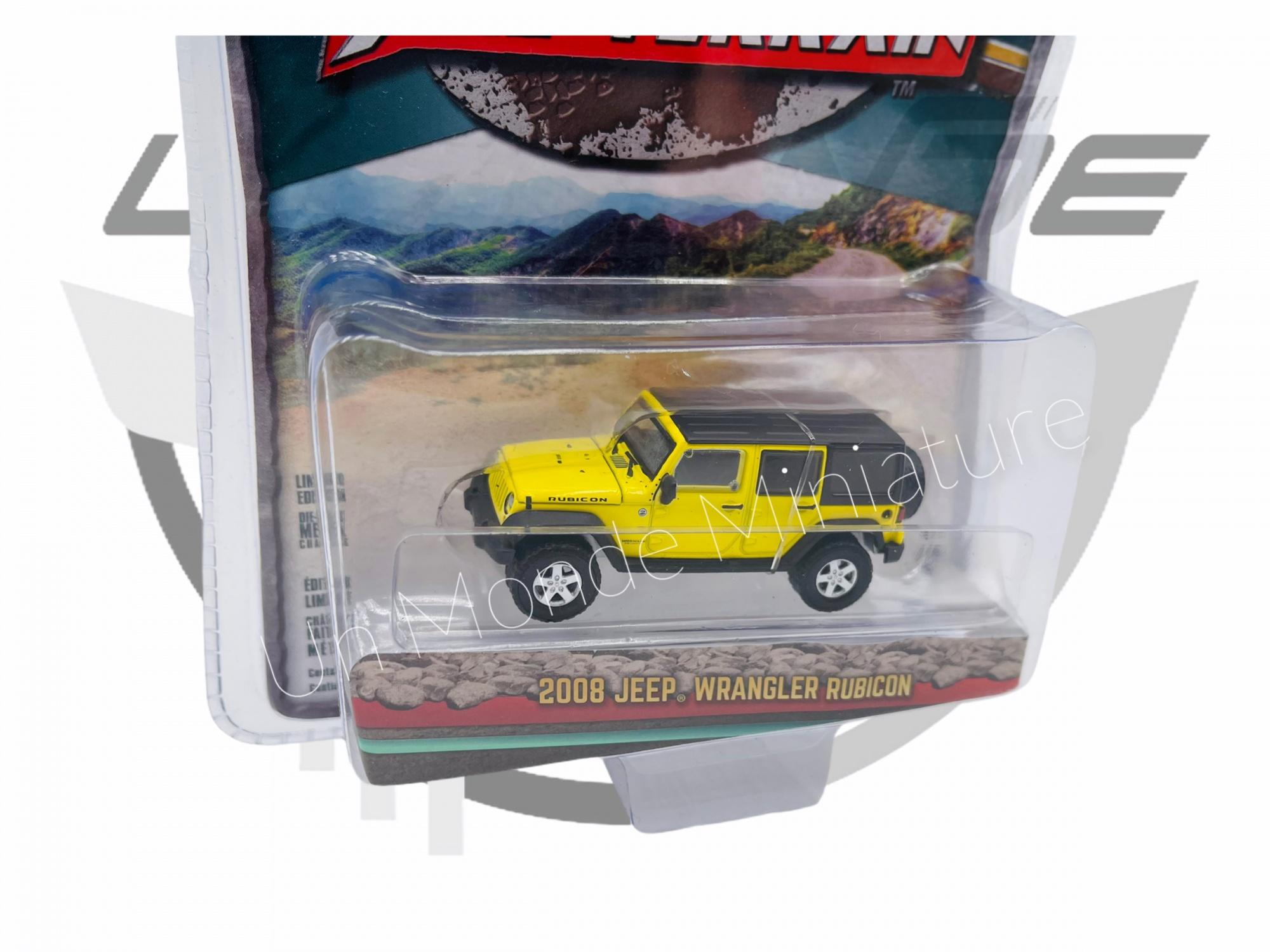 Jeep Wrangler Rubicon 2008 Yellow & Black