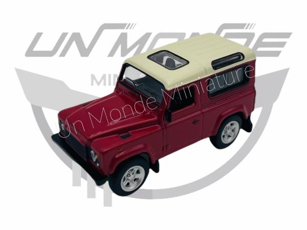 Land Rover Defender Rouge toit Blanc