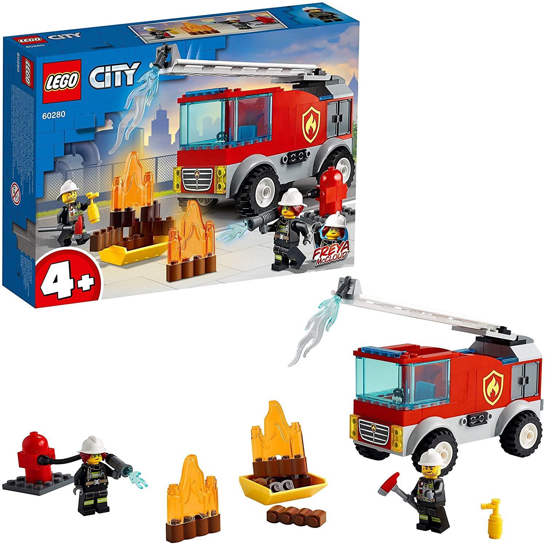 Le Camion des Pompiers avec Echelle