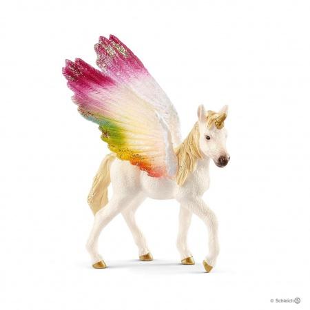 Licorne Ailée Arc-en-Ciel