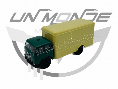 MAN 10 212 F Wagon Conteneur Vert Foincé Beige