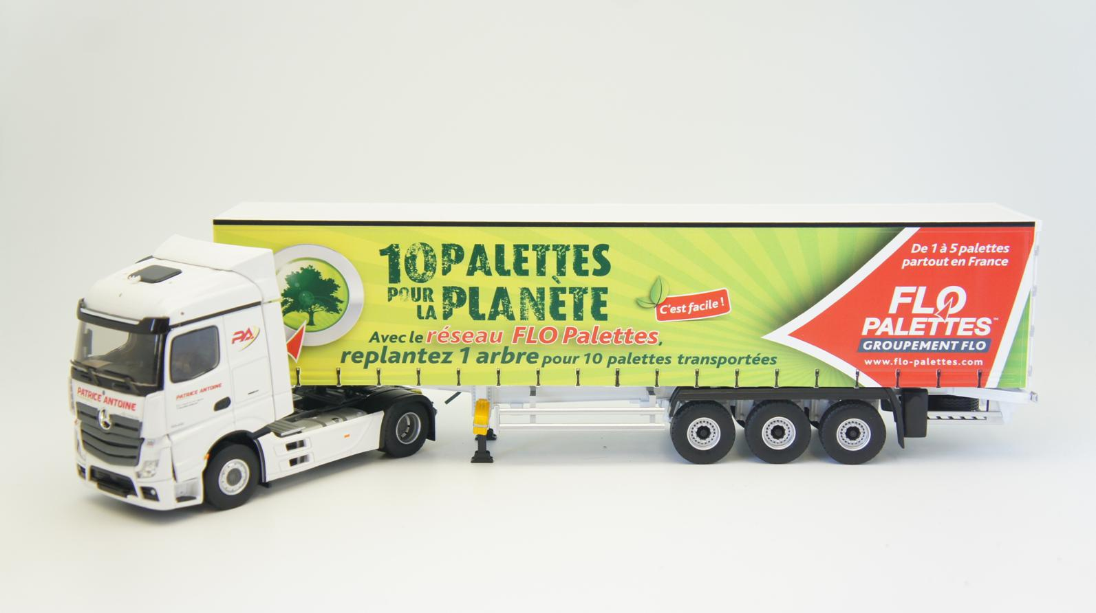 Mercedes Actros 5 Tautliner PATRICE ANTOINE FLO Palettes