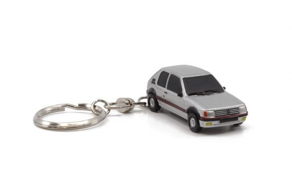 Peugeot 205 GTI Gray Key Chain