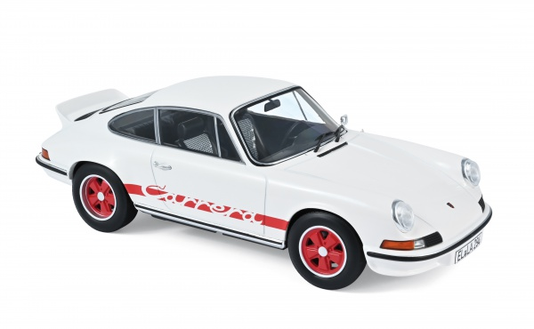 Porsche 911 RS 1973 White With Red Deco