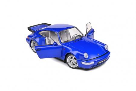 Porsche 911 Turbo Bleu Electrique 1990
