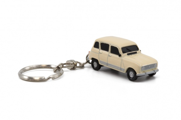 Renault 4L Cream White Key Chain