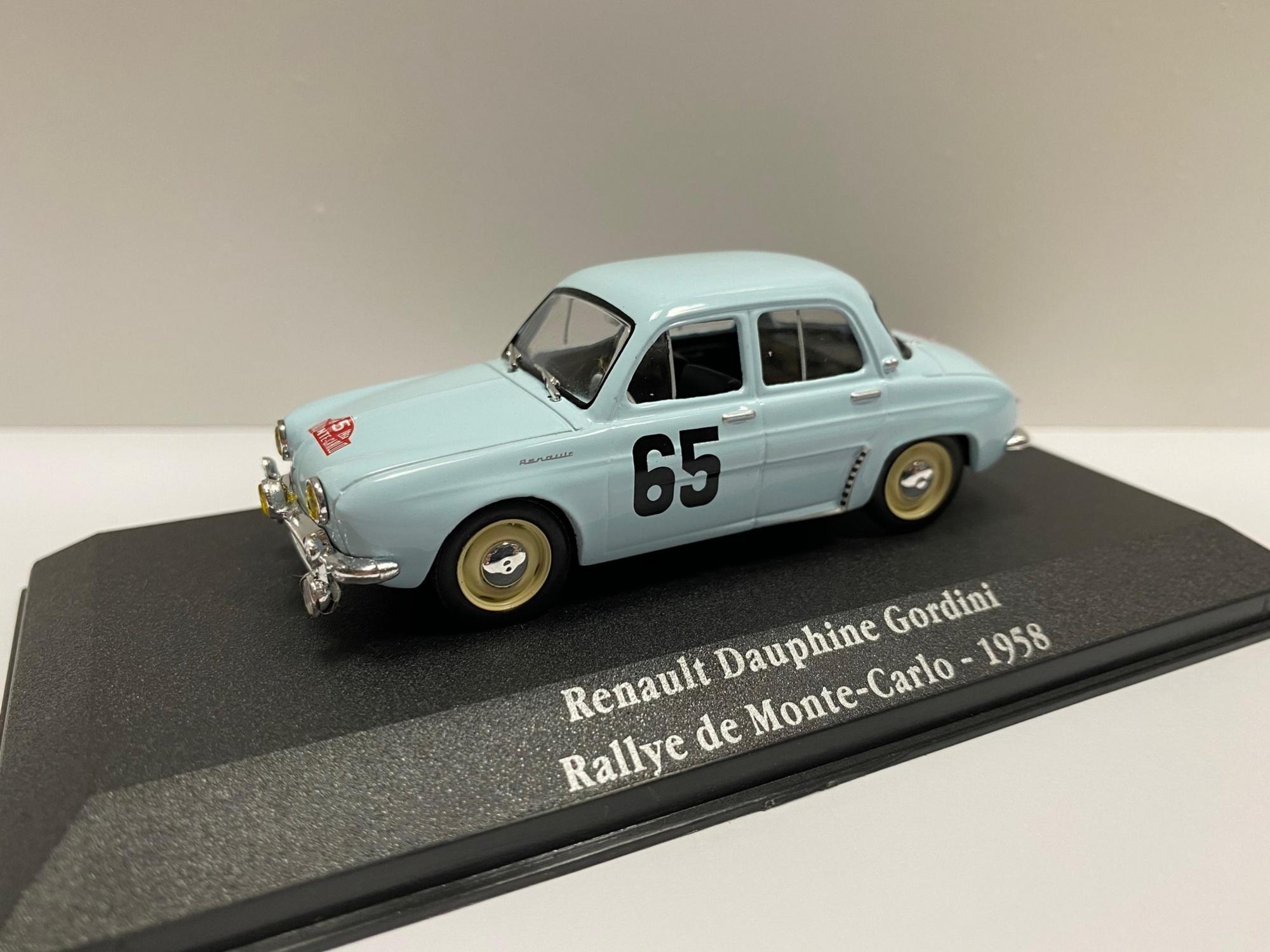 Renault Dauphine Gordini Rallye de Monte Carlo 1958