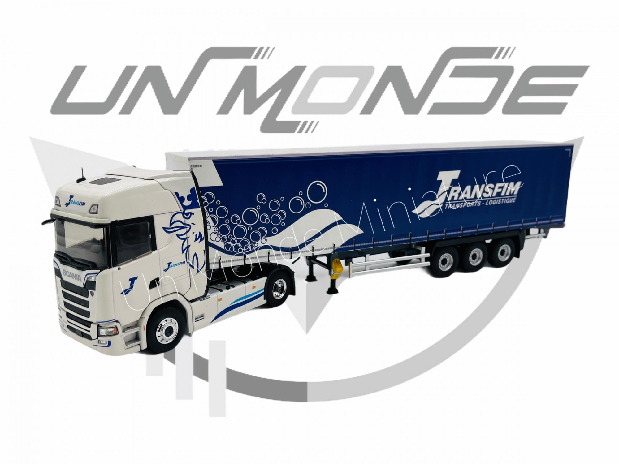 Scania S450 blanc Tautliner TRANSFIM