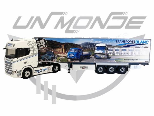 Scania S500 Semi Frigo Transports BLANC 65 ANS