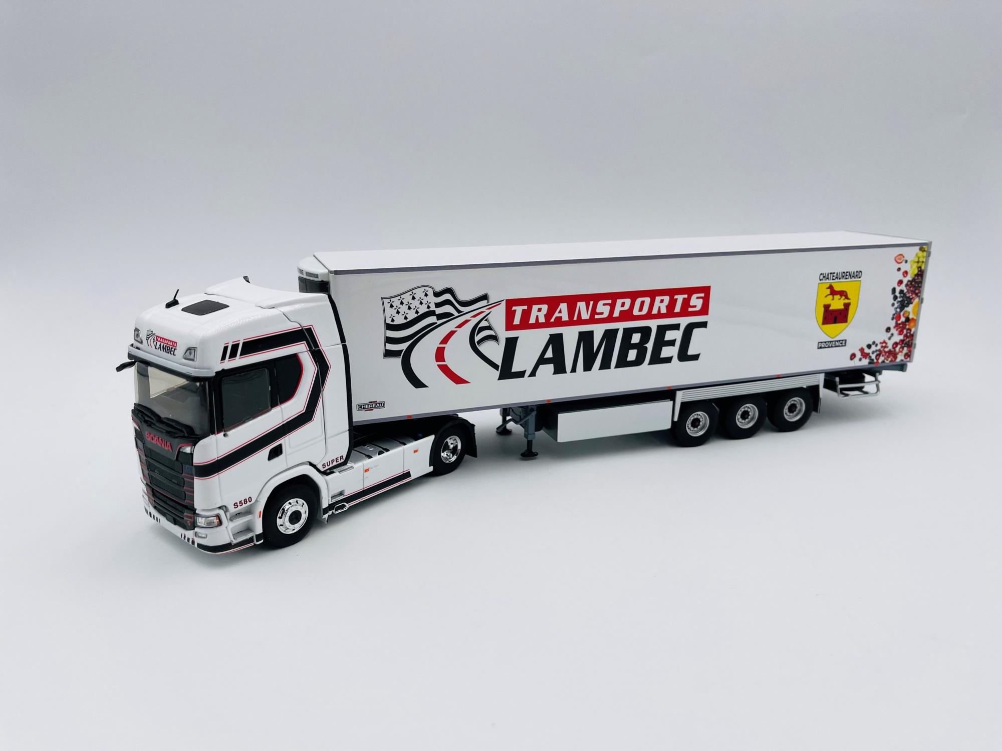 Scania S580 V8 Semi Frigo Transport LAMBEC