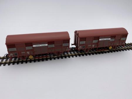 Set de 2 wagons Couvert à Essieux Gss 4-02 Aquitaine Express