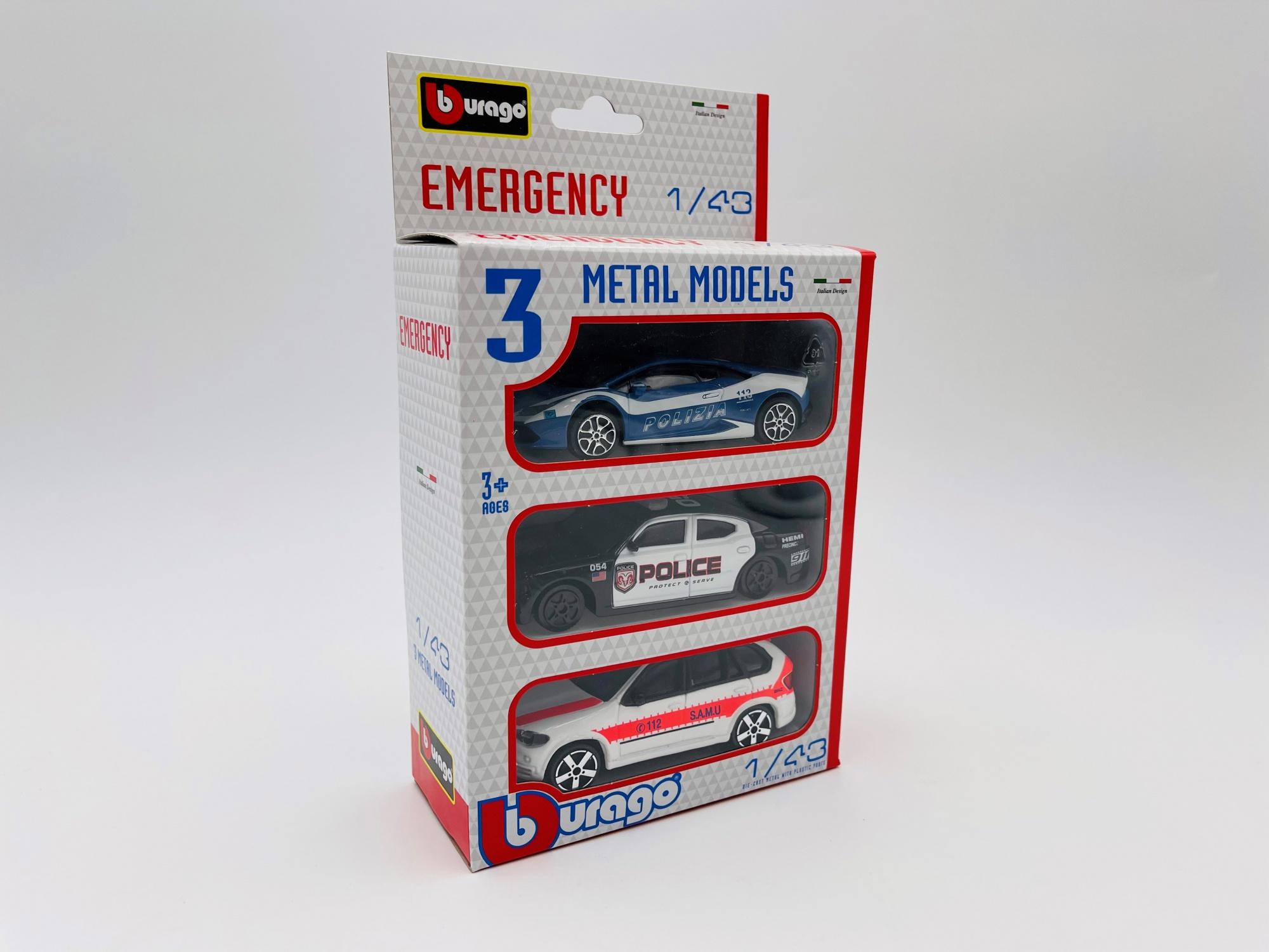 Set de 3 voitures Emergency Jet Car