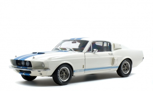Shelby Mustang GT500 WIMBLEDONE White & Blue Stripes 1967