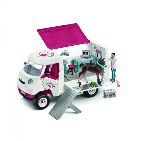 Vétérinaire Mobile Avec Poulain Hanovrien
