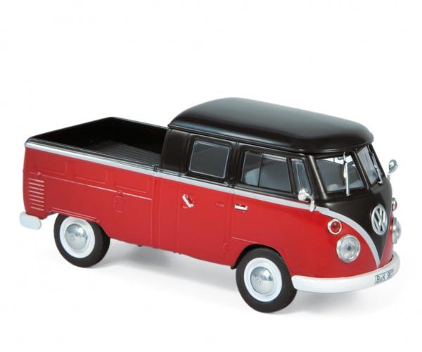 Volkswagen T1 Double Cabin 1961 Red & Black