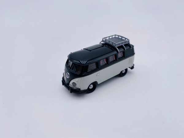 Volkswagen T1b Camper Noir Gris Clair avec Dachklappe