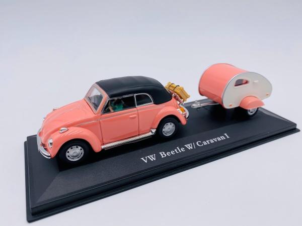 VW Beetle W/ Caravan I Pink