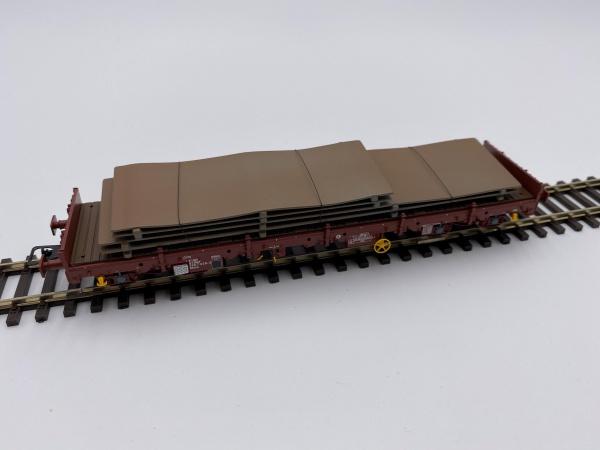 Wagon à Essieux Remms Livrée Marron Avec Chargement